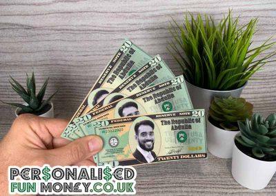 Birthday Dollar Bills, add your photo and wording
