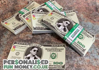 Personalised dollar bills perfect for us in Cash Cannons
