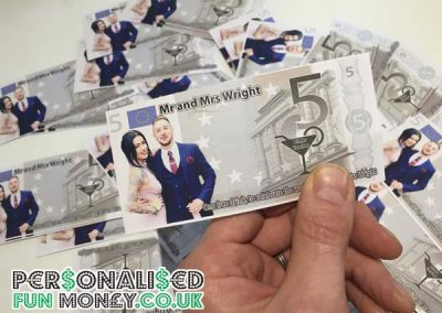 personalised euro notes