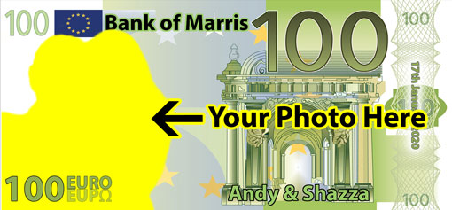 Personalised Euros just upload your own image here