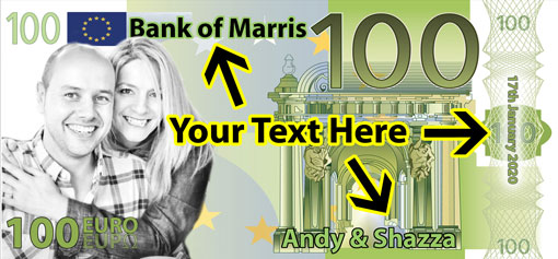 Personalised Euros - Input your own wording here