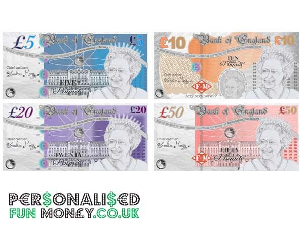 personalised pound notes