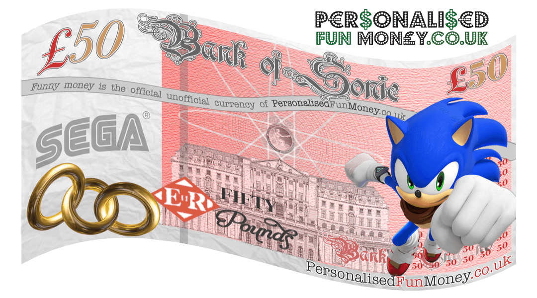 personalised pound note