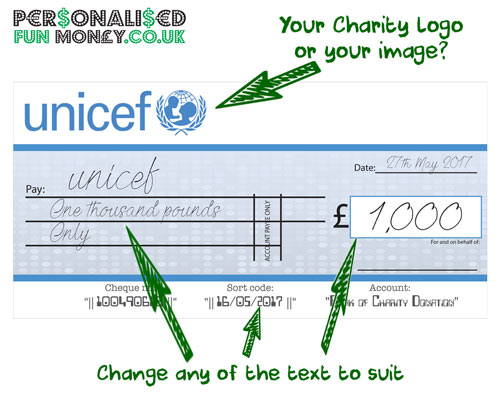 Giant Cheques Charity And Promotional Events