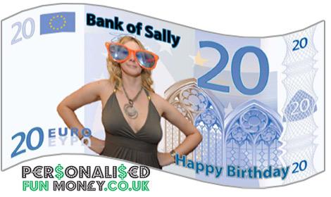 novelty euro bank notes