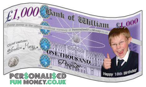 Novelty Pound Notes