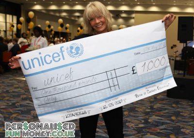 giant cheque