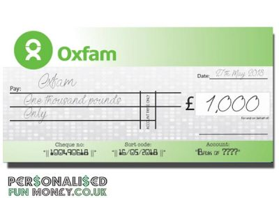 giant cheque