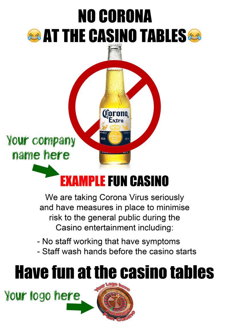 Corona-table-sign