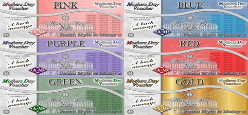 Personalised Vouchers - Choice of colours