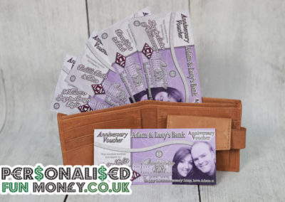 Personalised Anniversary Vouchers, Bespoke, customised