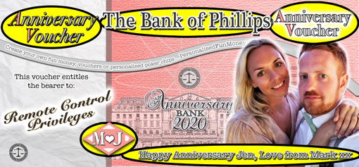 Insert your own words into your Anniversary Vouchers
