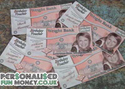 Bespoke, customised Birthday Vouchers