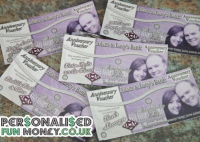 Personalised Anniversary Vouchers, Bespoke, customised