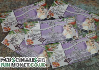 Personalised Christmas Vouchers. Bespoke, customised