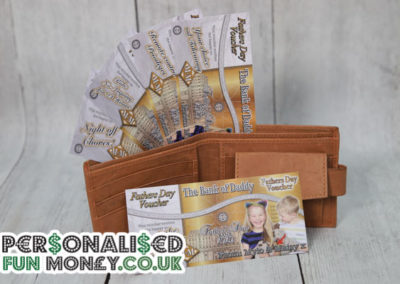 Personalised Fathers Day Vouchers. Bespoke, customised