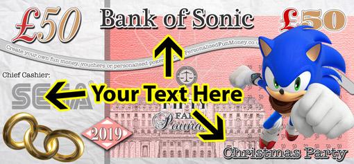 UK Personalised Bank notes