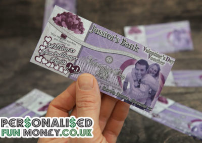 Bespoke, customised Valentines Vouchers