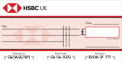HSBC Bank Cheque