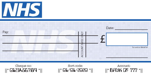 NHS Presentation Cheque
