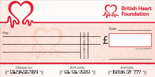 British Heart Foundation Presentation Cheque