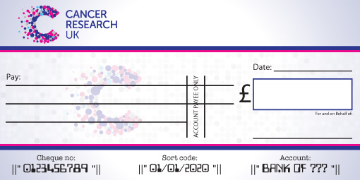 Cancer Research Presentation Cheque