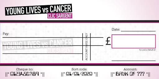 Clic Sargent donation cheque