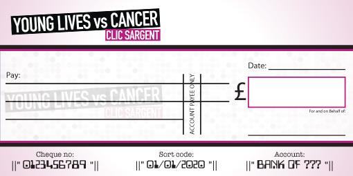 Clic Sargent donation cheque