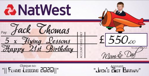 Giant Cheque personalised with your words and photo