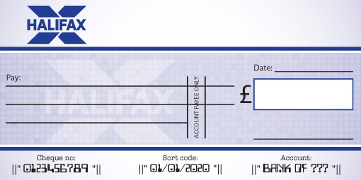 Halifax Bank Cheque