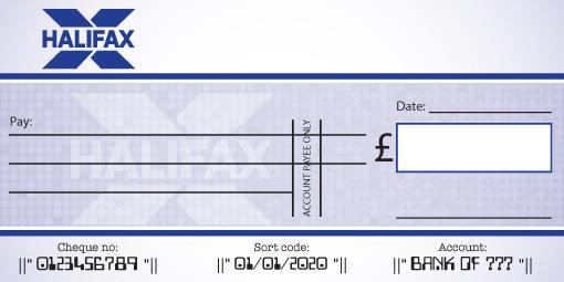 Halifax Bank Cheque