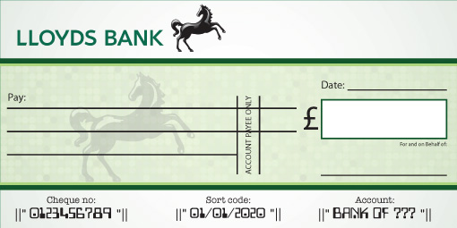 LLoyds Bank Cheque