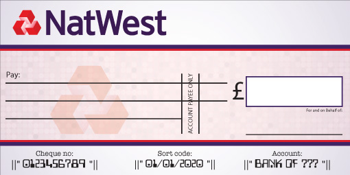 Natwest Bank Cheque