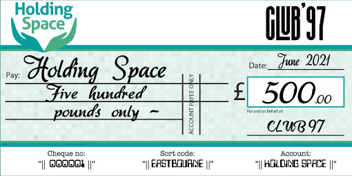 personalised charity cheque