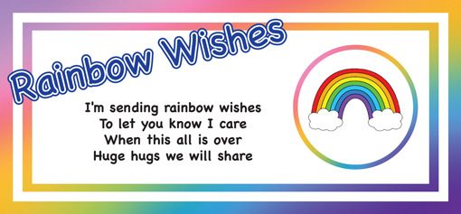 Send Rainbow wishes to someone special with a pocket rainbow