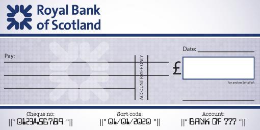 Royal Bank of Scotland Cheque