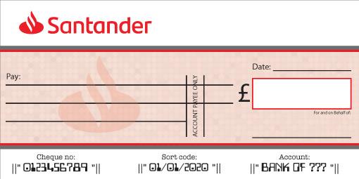 Santander Bank Cheque