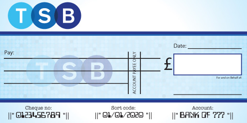 TSB Bank Cheque