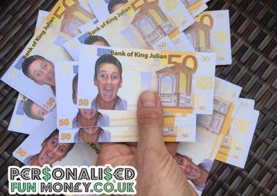 Birthday Euro notes