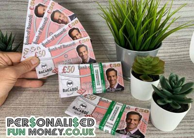 Corporate personalised pound notes