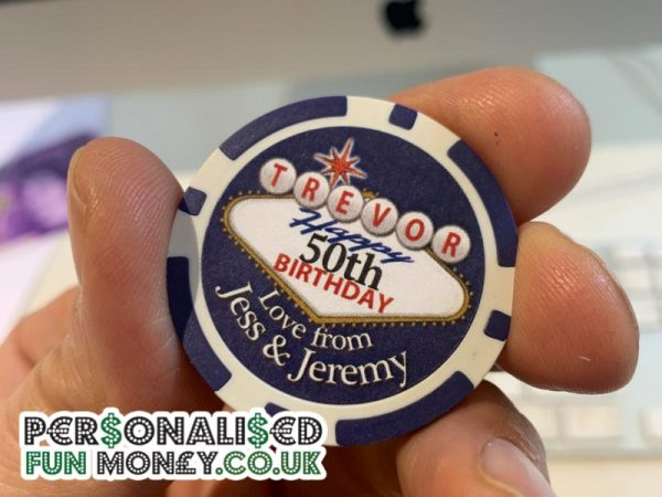 Customised Birthday Poker Chips