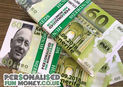 Customised Euro Bank Notes