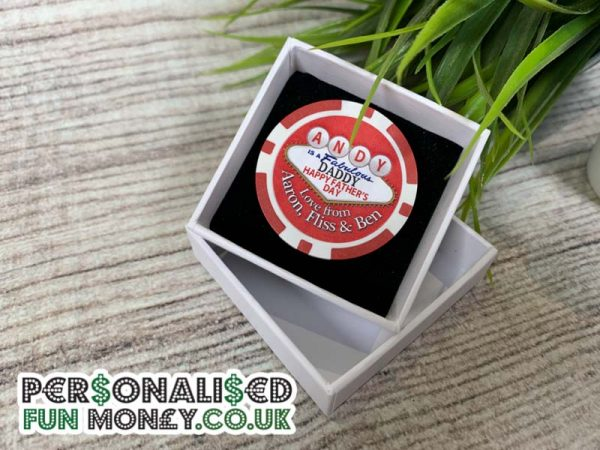 Personalised Fathers Day Poker Chip