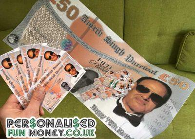 Giant 50 pound notes