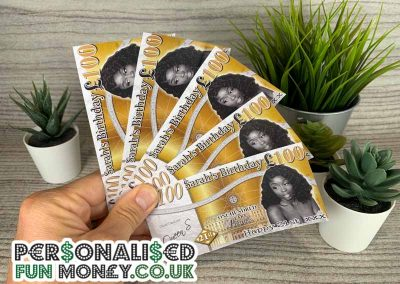 Personalised Birthday pound notes