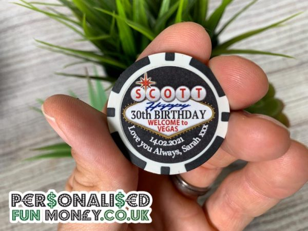 Personalised Poker Chips with your wording on.