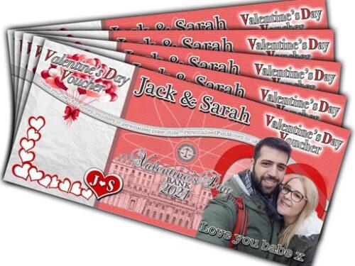 Bespoke, customised Valentines Vouchers