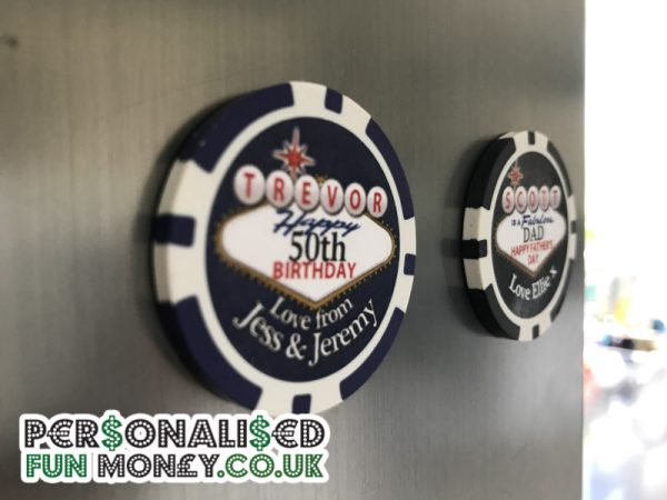 Poker Chip Fridge Magnet