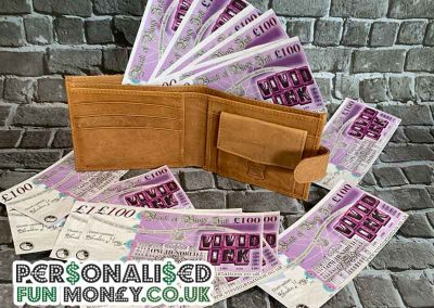 Customise your promotional pound notes with company logo and branding
