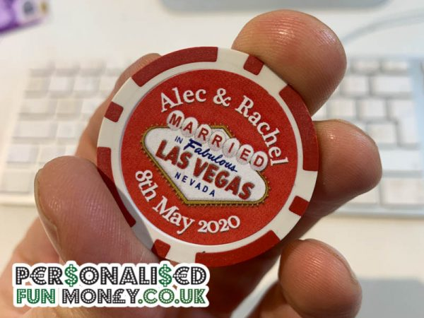 Save the Date Poker Chip